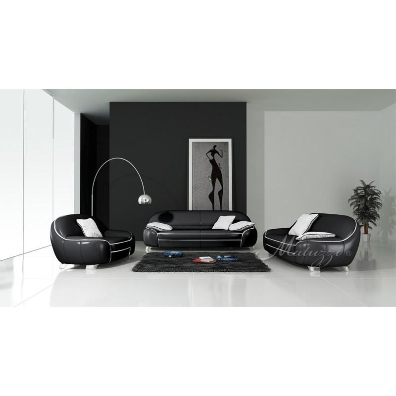 Austin 3 piece leather sofa suite - Matuzzi